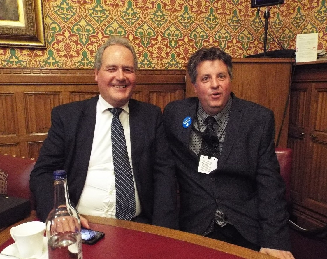 Bob Blackman, MP for Harrow East and Matt, person we support and constituent from Harrow